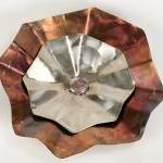 Stainless Steel Large Hammered Flo..