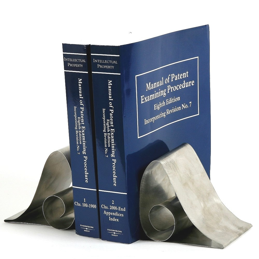 Stainless Steel Swirl Book Ends