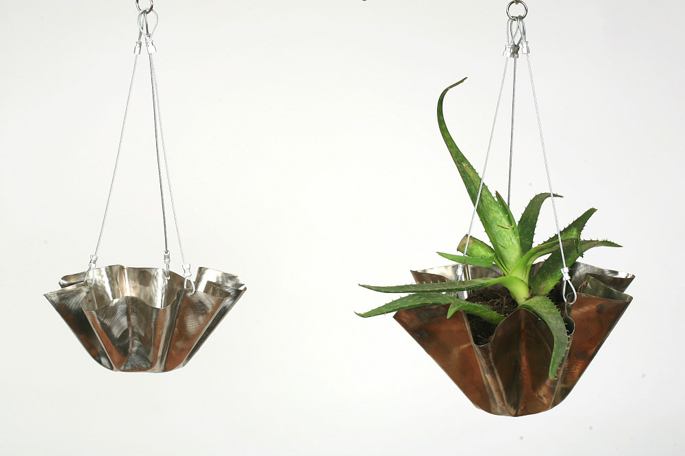 Large Stainless Steel Hanging Flower Pot