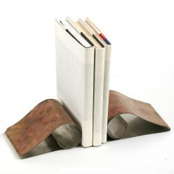 Stainless Steel Curl Book Ends