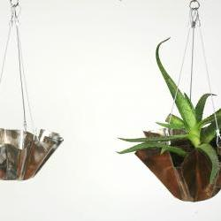 Stainless Steel Small Hanging Flower Pot